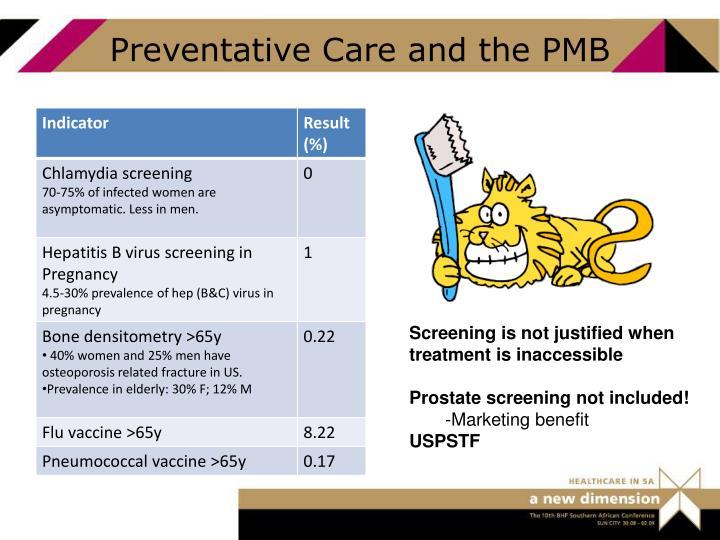 Preventative Care and the PMB