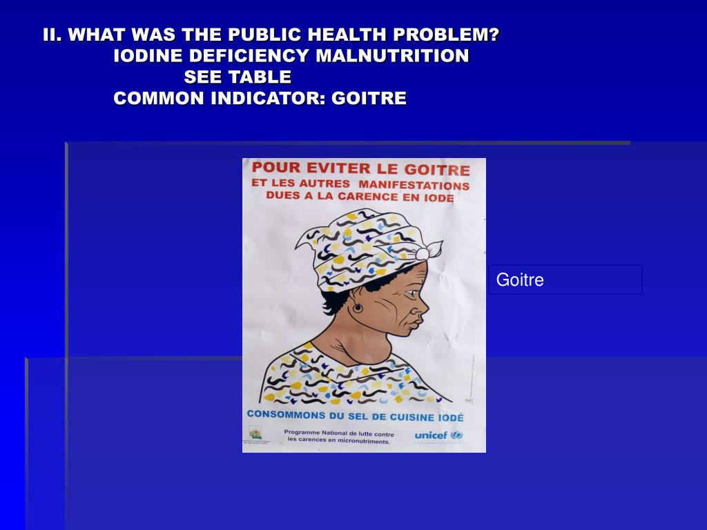 II. WHAT WAS THE PUBLIC HEALTH PROBLEM?