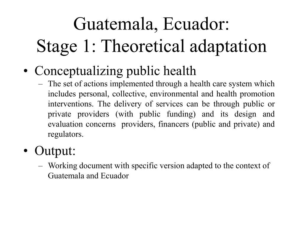 Guatemala, Ecuador: