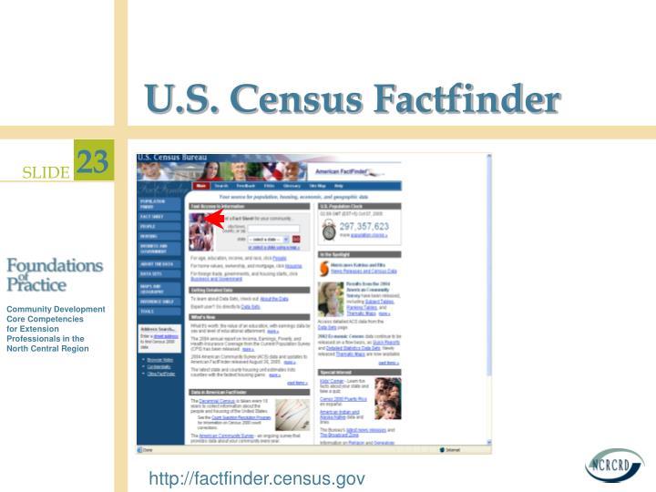 U.S. Census Factfinder