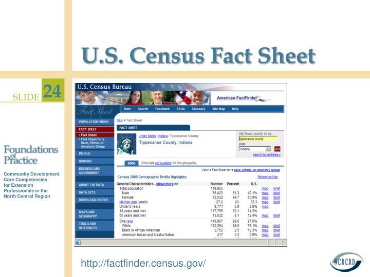 U.S. Census Fact Sheet