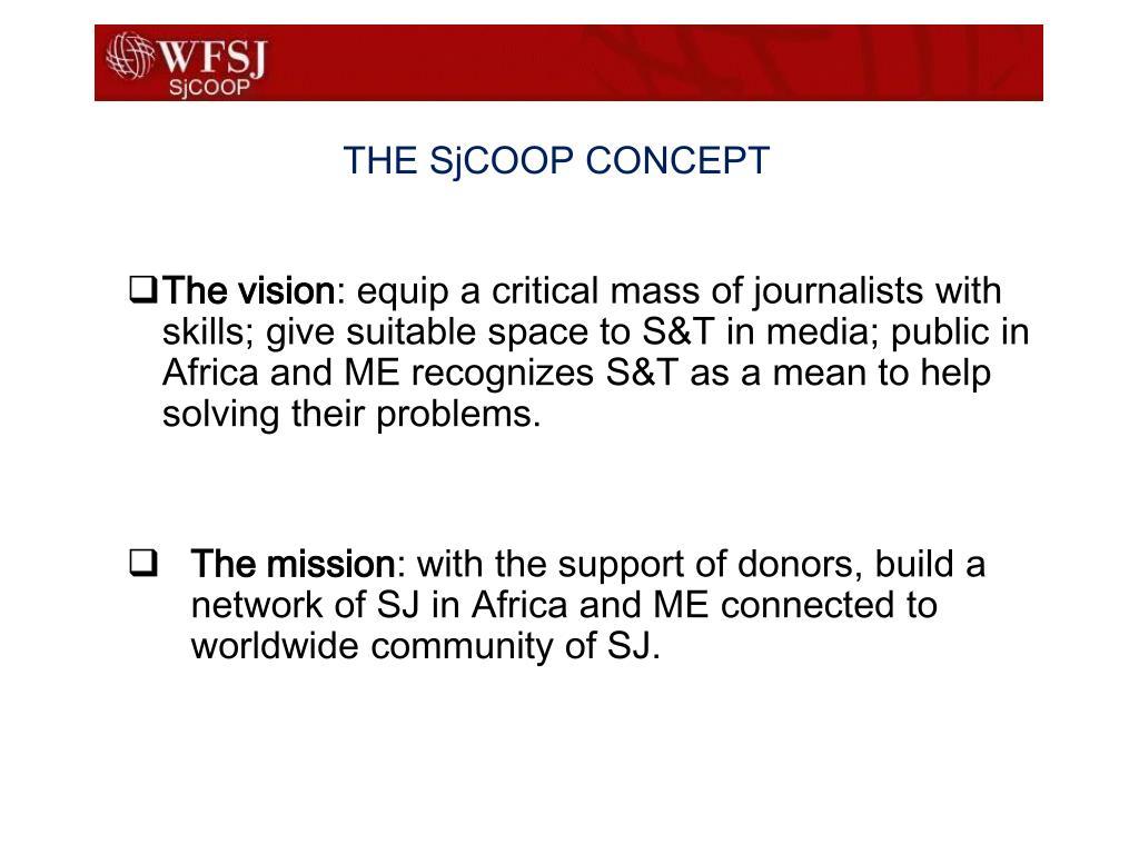 THE SjCOOP CONCEPT