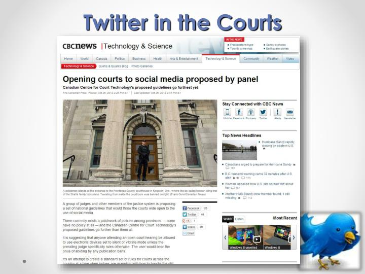 Twitter in the Courts
