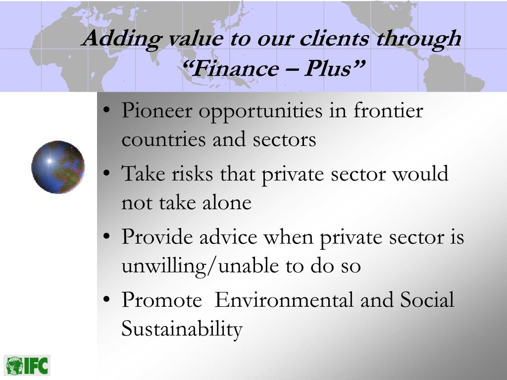 "Adding value to our clients through ""Finance – Plus"""
