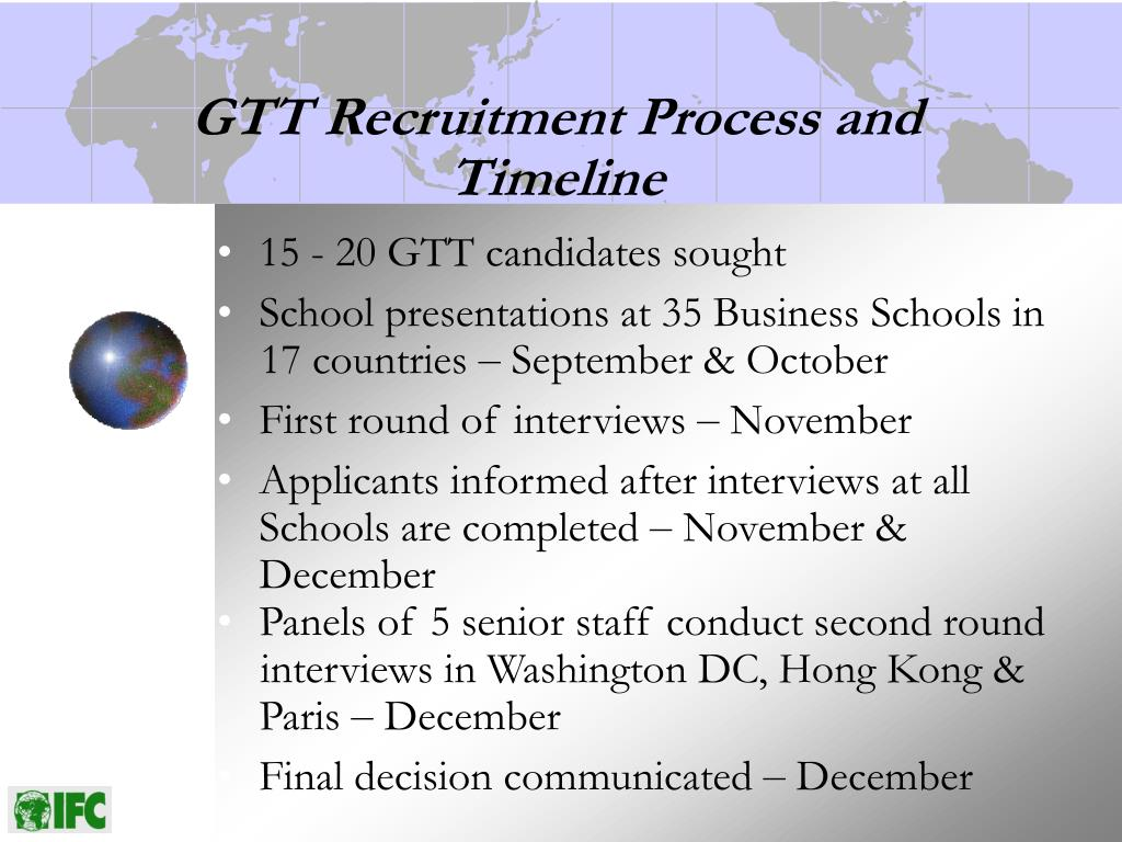 GTT Recruitment Process and Timeline