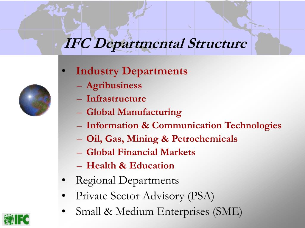 IFC Departmental Structure