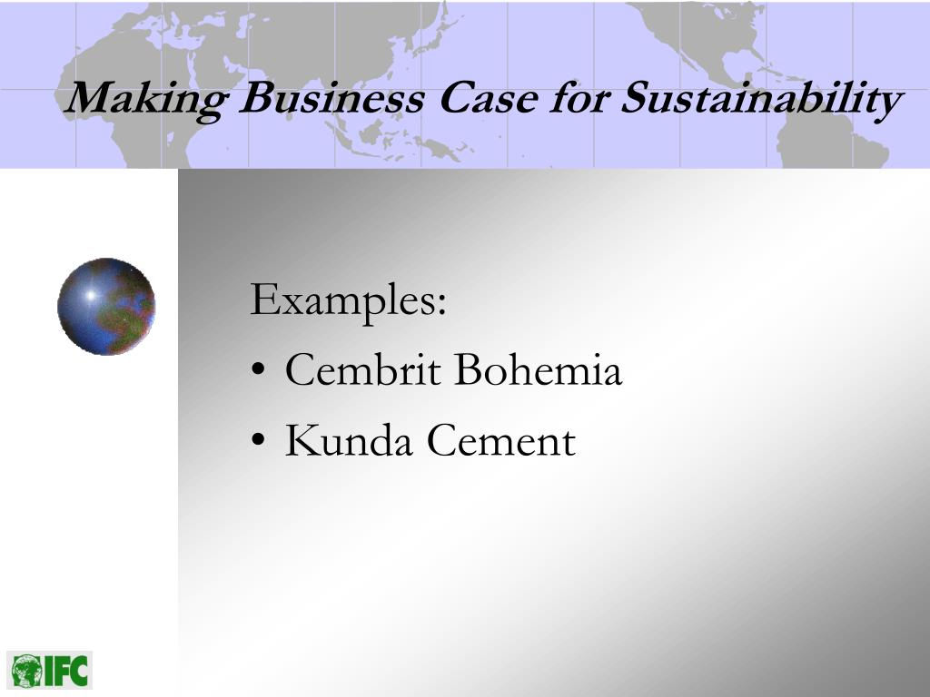 Making Business Case for Sustainability