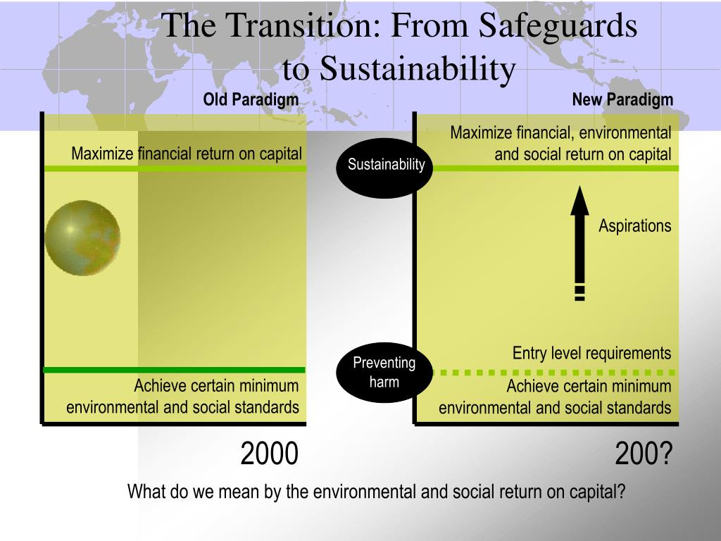 The Transition: From Safeguards to Sustainability