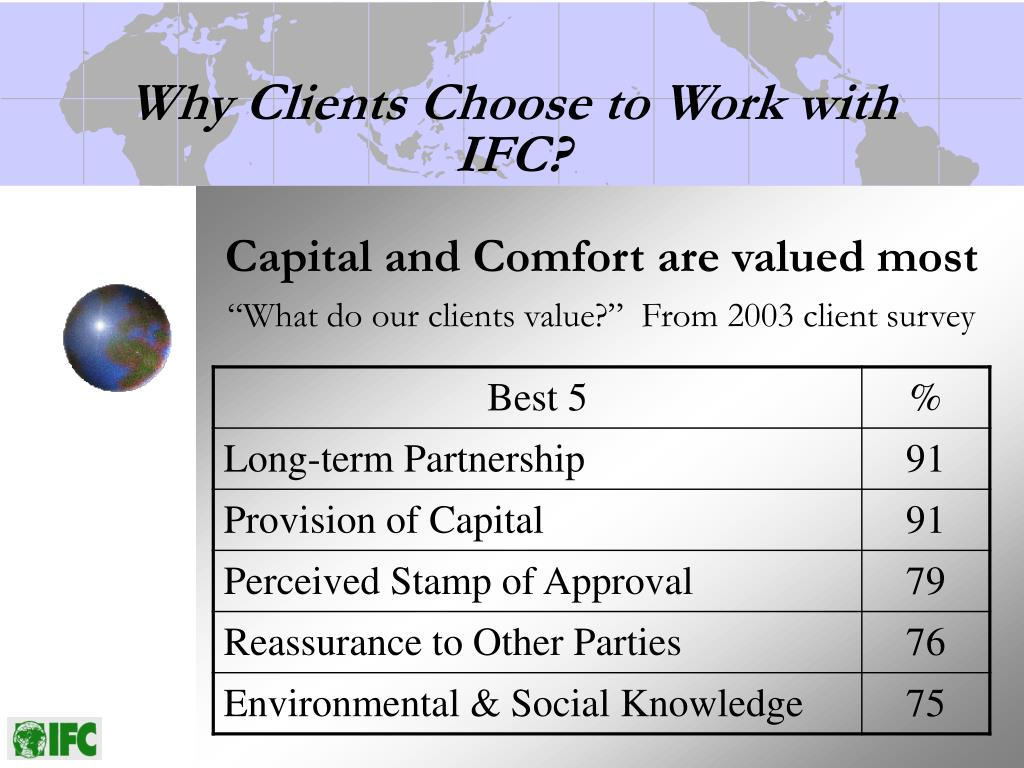 Capital and Comfort are valued most
