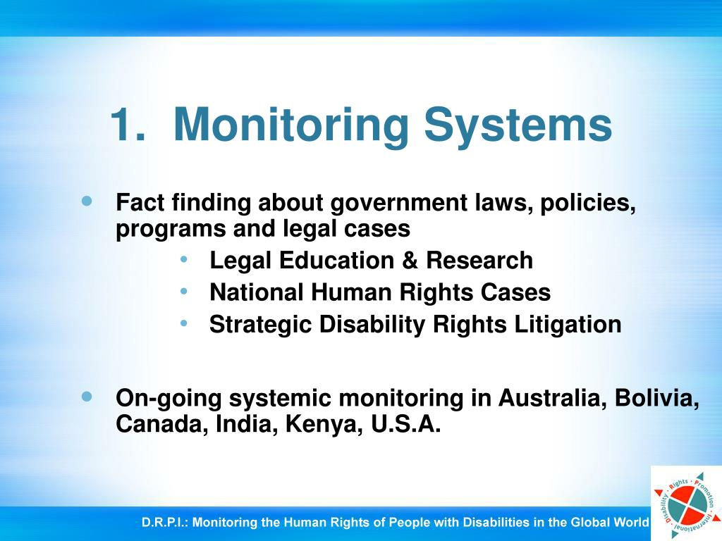 1.  Monitoring Systems