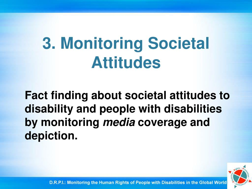 3. Monitoring Societal Attitudes