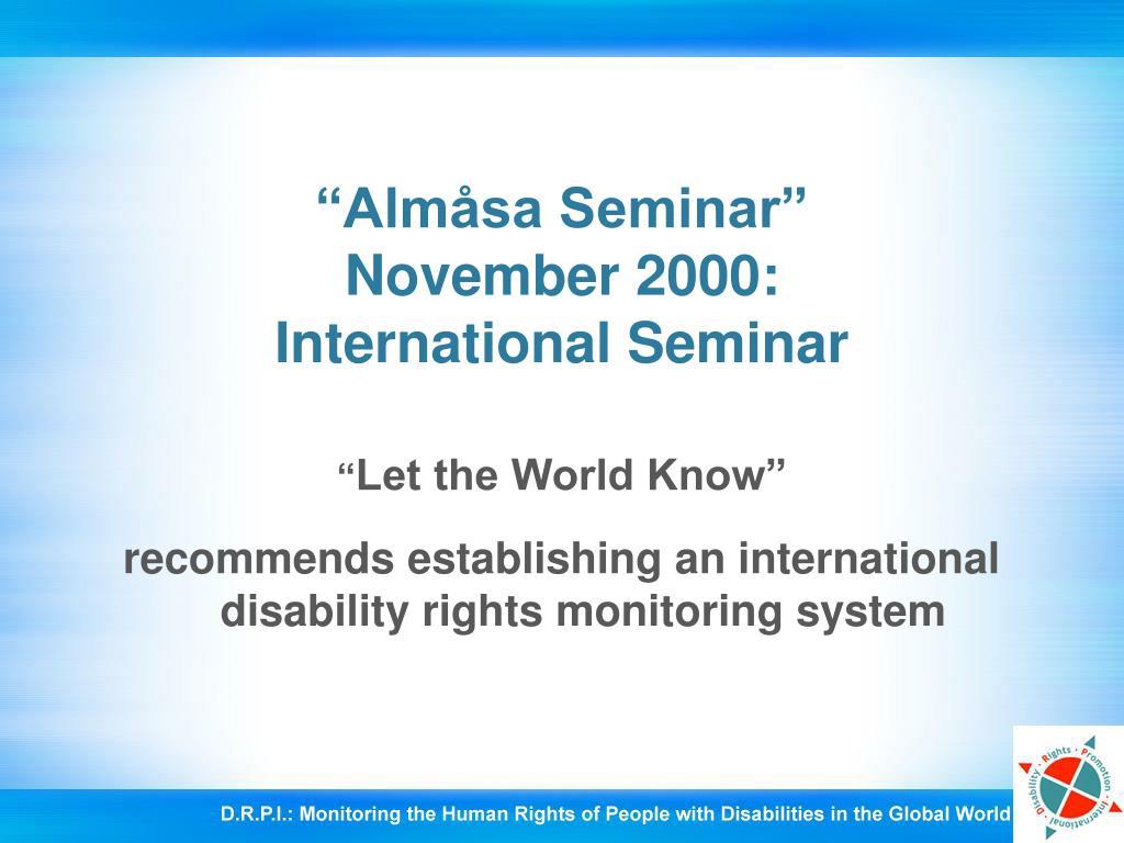 """""""Almåsa Seminar"""""""