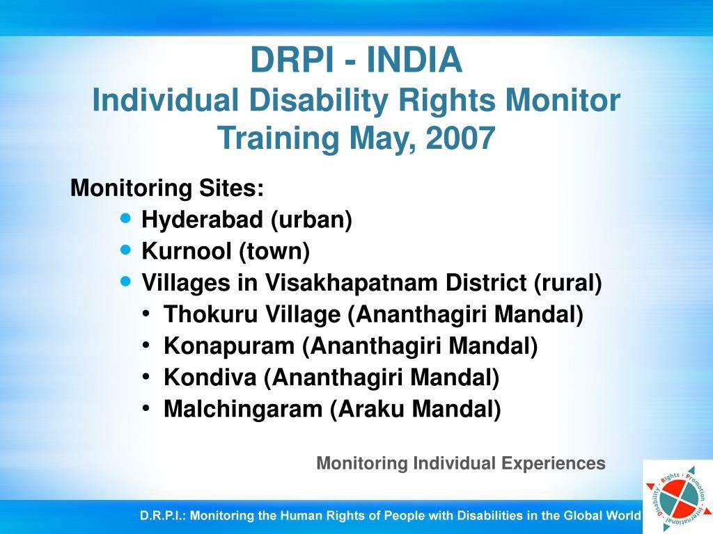DRPI - INDIA