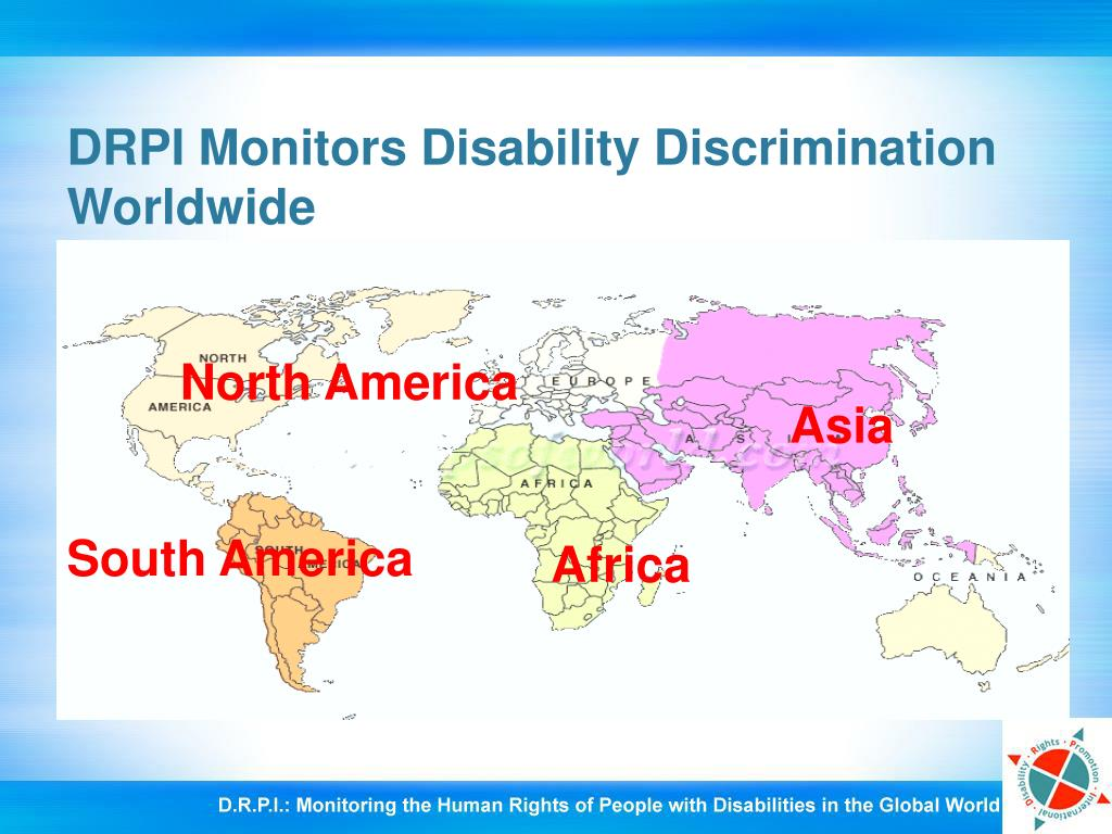 DRPI Monitors Disability Discrimination Worldwide