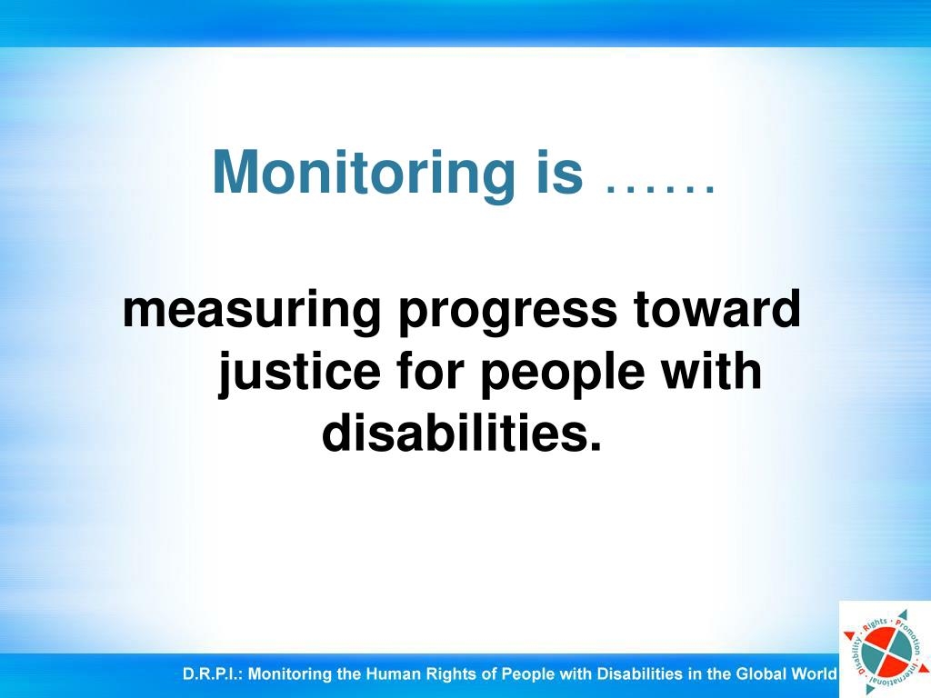 Monitoring is