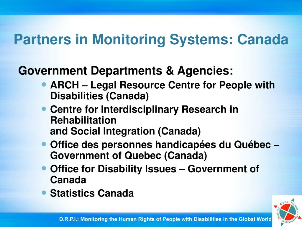 Partners in Monitoring Systems: Canada