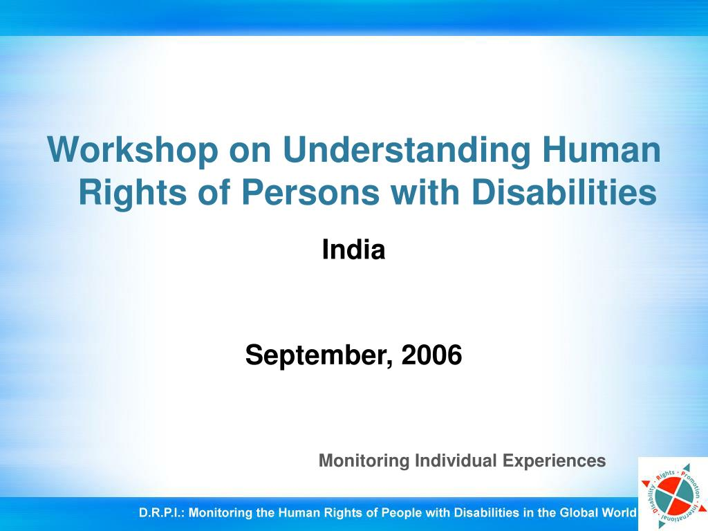 Workshop on Understanding Human Rights of Persons with Disabilities