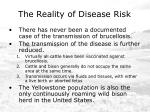 the reality of disease risk