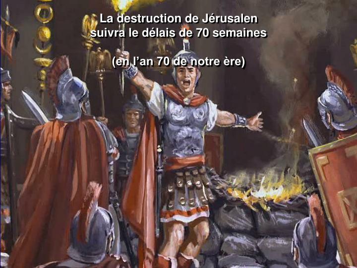 La destruction de Jérusalen