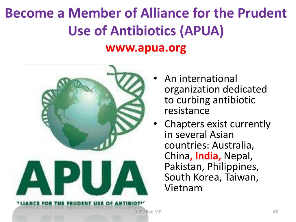 Become a Member of Alliance for the Prudent Use of Antibiotics (APUA