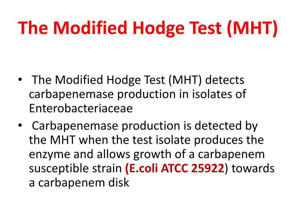 The Modified Hodge Test (MHT)