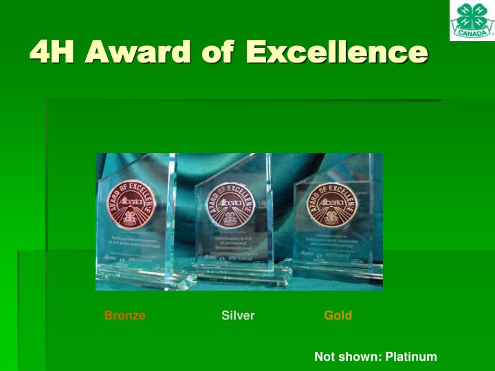 4H Award of Excellence