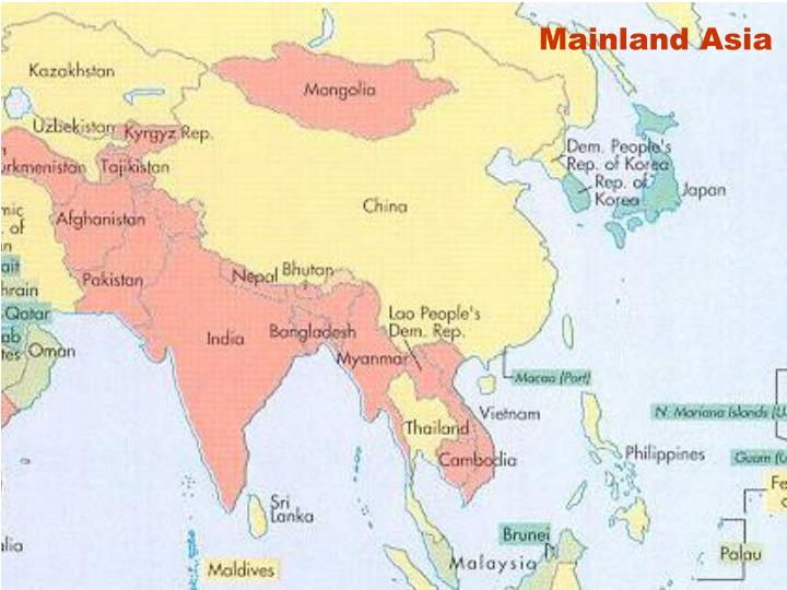 Mainland Asia
