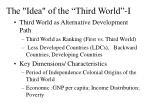 the idea of the third world i