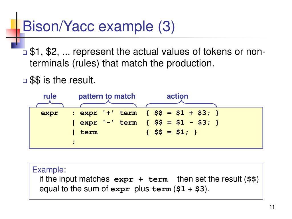 Bison/Yacc example (3)