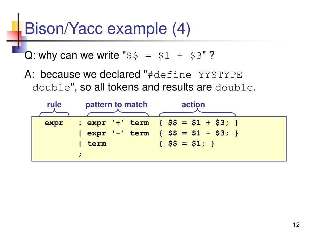 Bison/Yacc example (4)