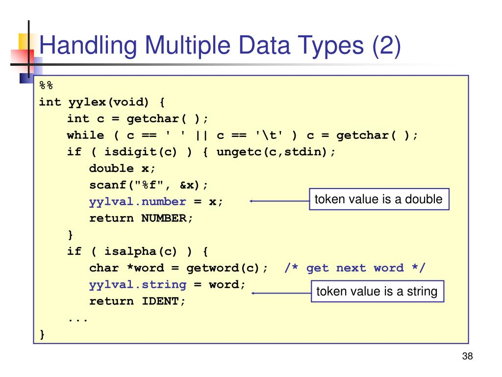 Handling Multiple Data Types (2)