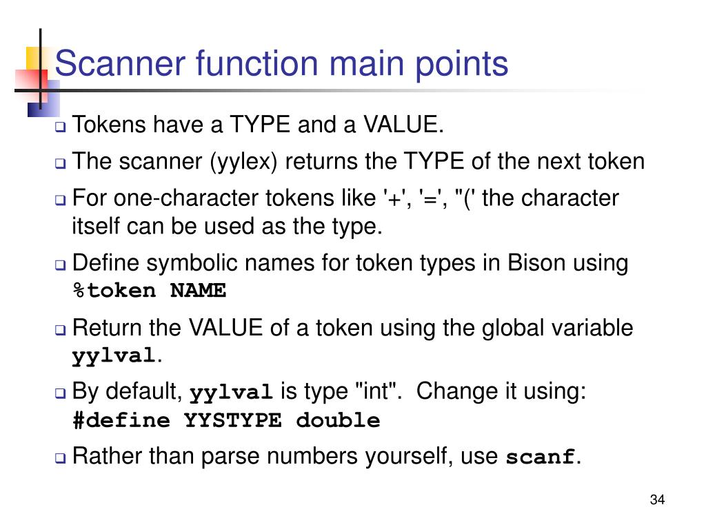 Scanner function main points