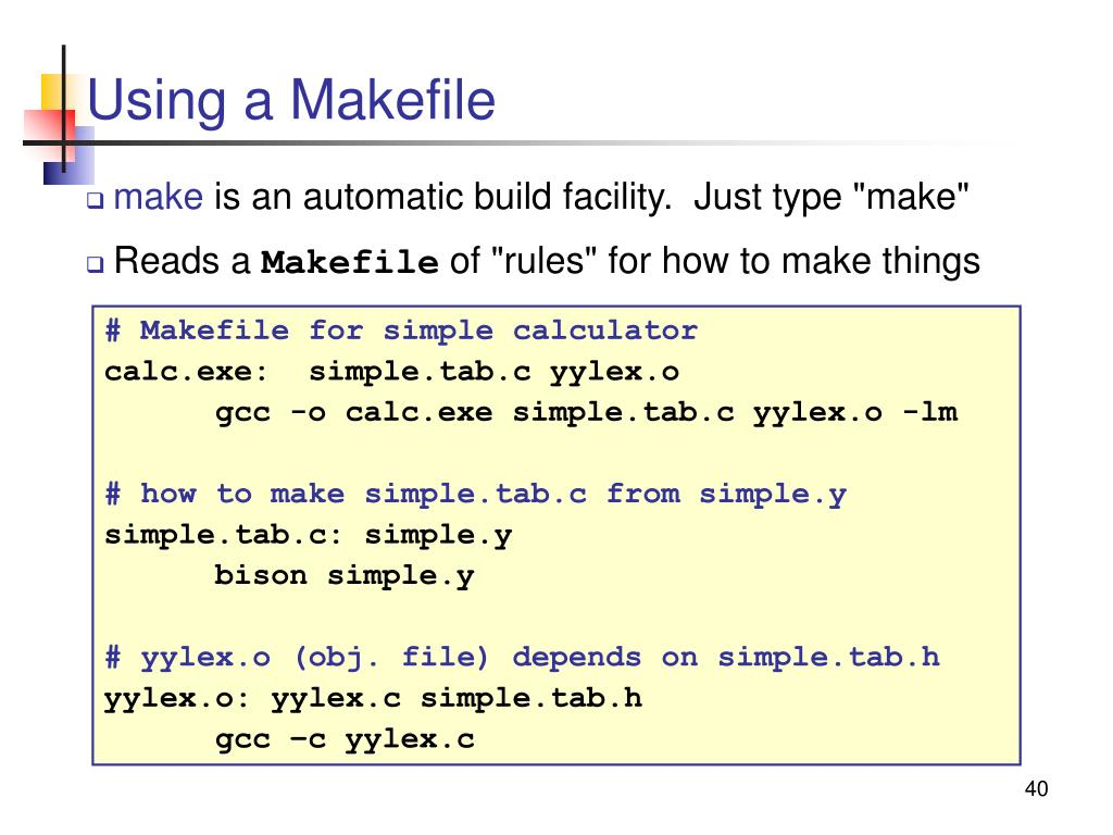 Using a Makefile