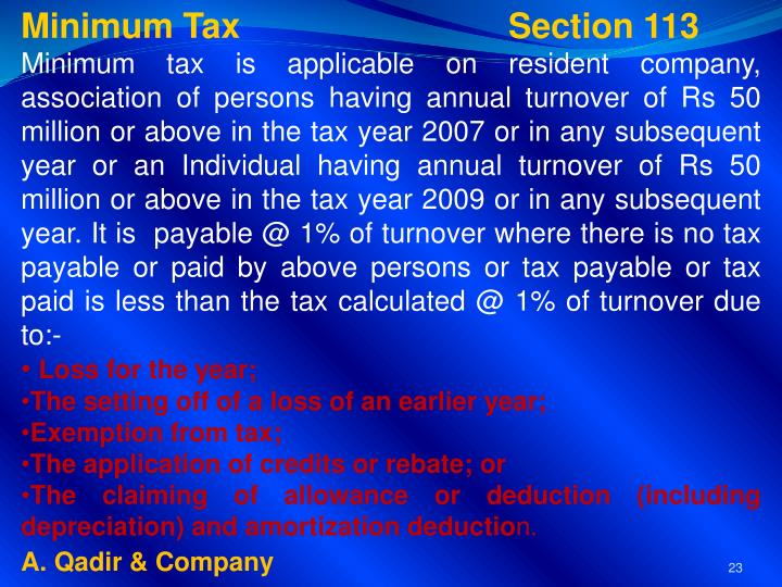Minimum Tax