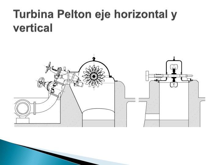 Turbina Pelton eje horizontal y vertical