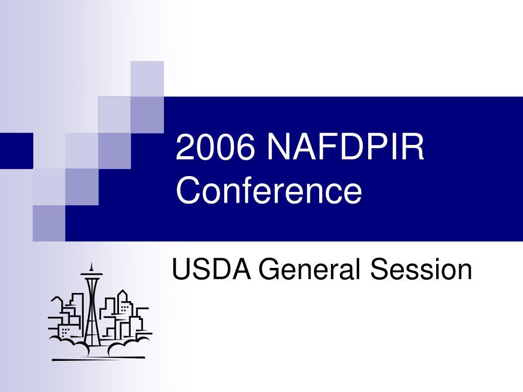 2006 NAFDPIR Conference