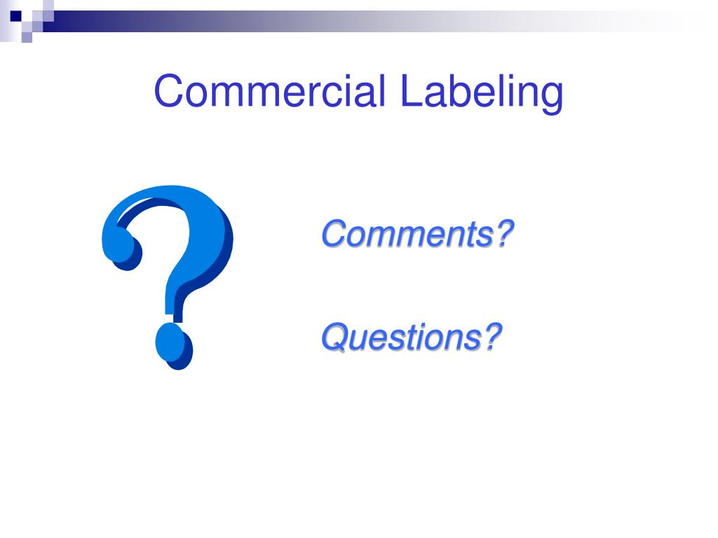 Commercial Labeling