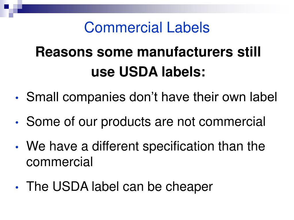 Commercial Labels