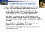 customer service benefits
