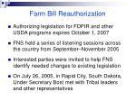farm bill reauthorization80