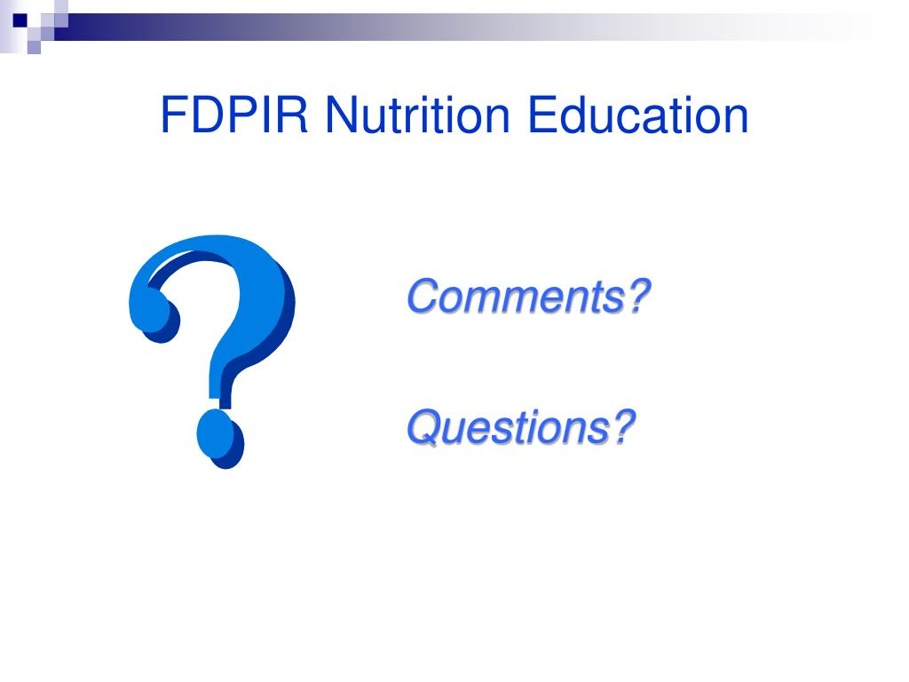 FDPIR Nutrition Education
