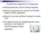 guidelines applied to proposals