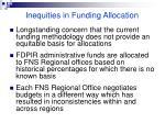 inequities in funding allocation