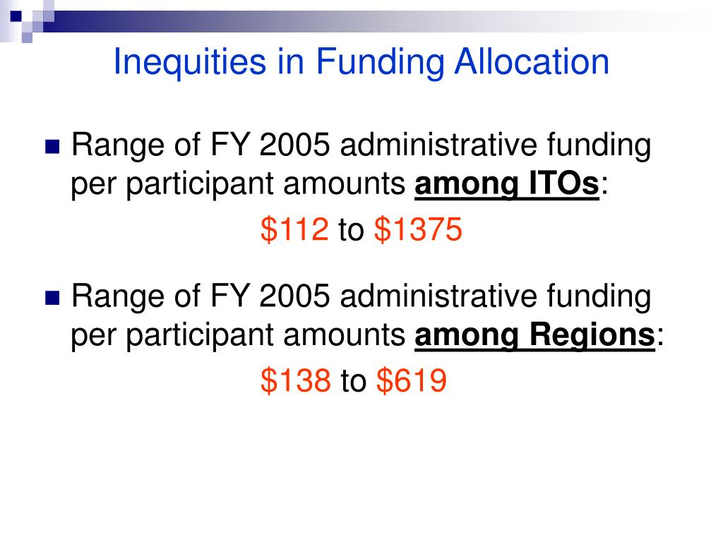 Inequities in Funding Allocation
