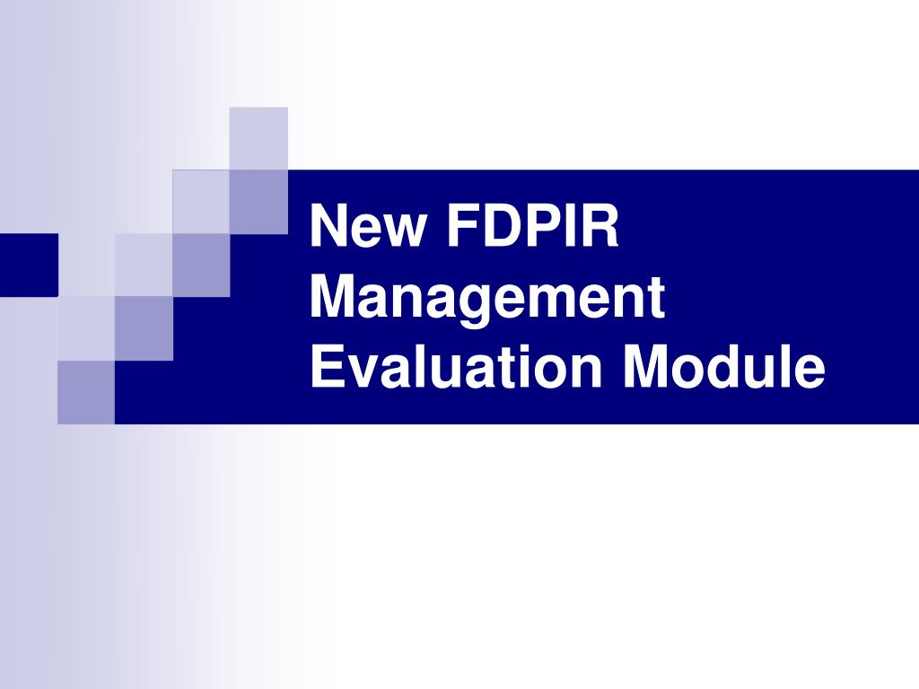 New FDPIR Management