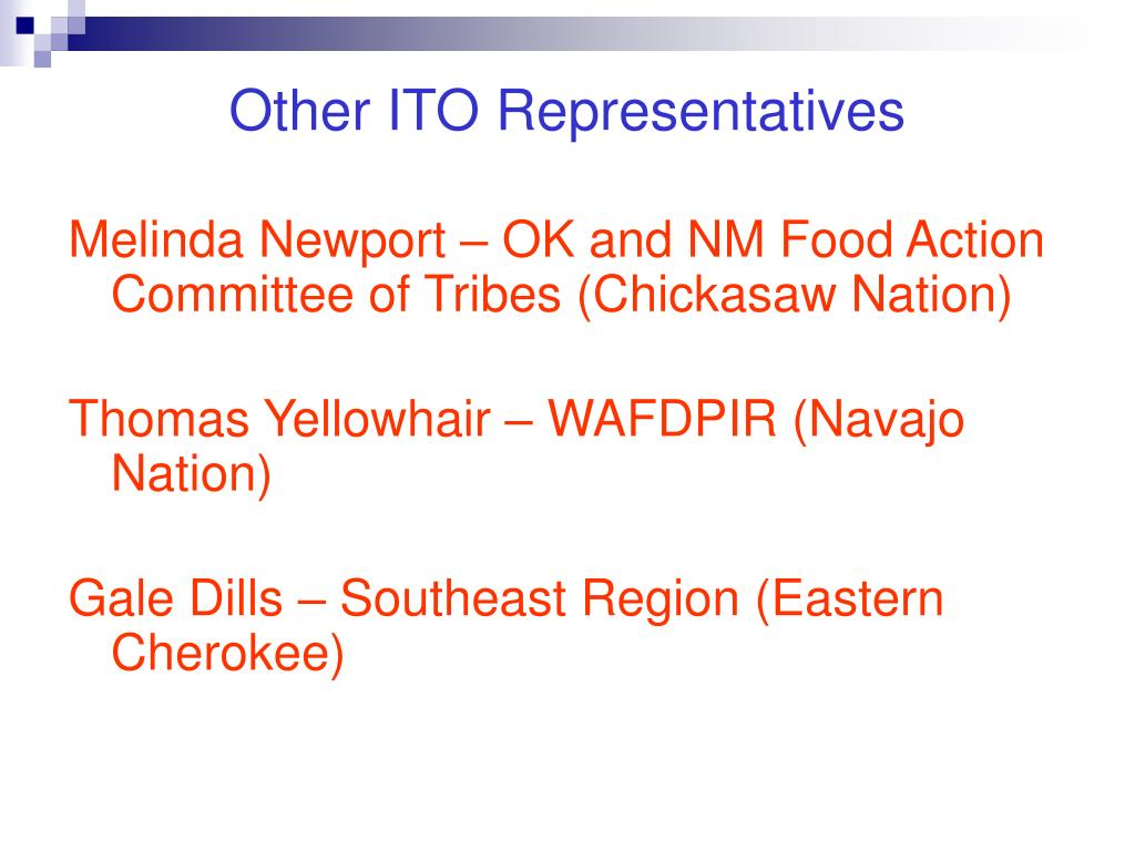 Other ITO Representatives