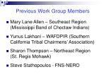 previous work group members