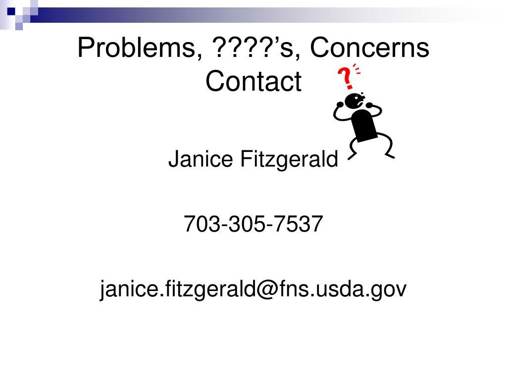 Problems, ????'s, Concerns