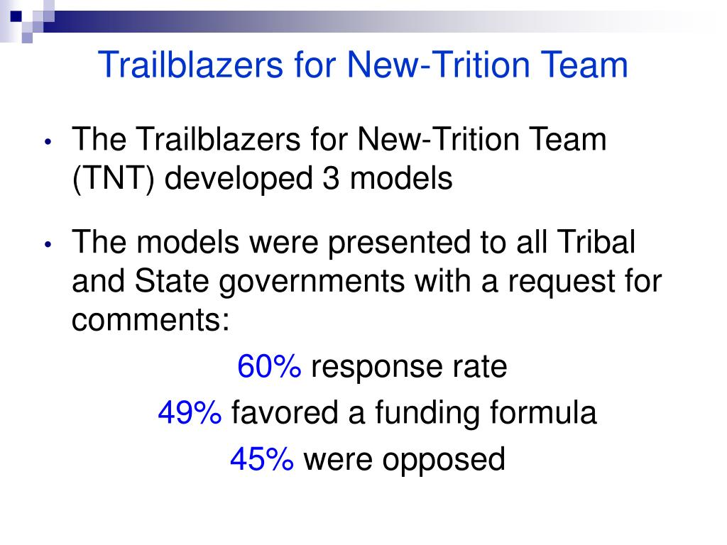 Trailblazers for New-Trition Team