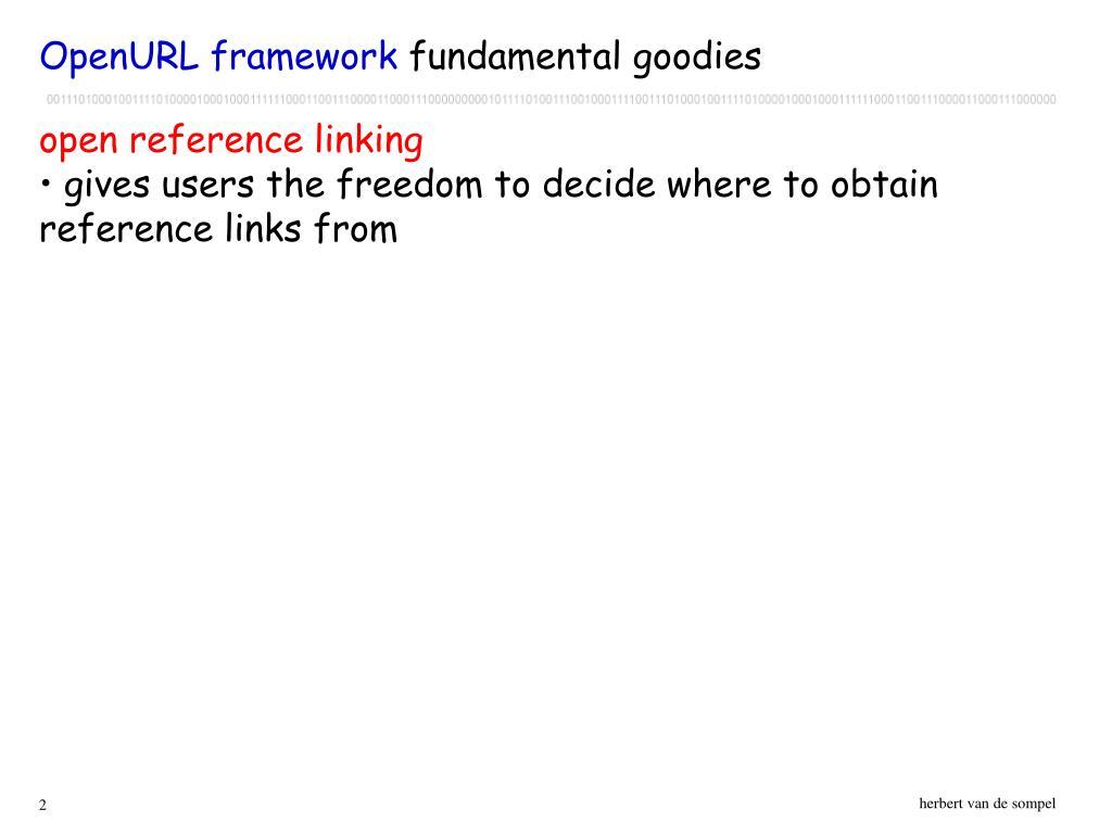OpenURL framework